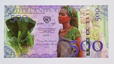 Niederlande Guinea (Ghana) 500 Gulden, 2016 Private Issue POLYMER, UNC