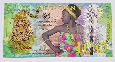 Niederlande Guinea (Ghana) 100 Gulden, 2016 Private Issue POLYMER, UNC