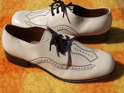 BAHAMAS MADE by ROSSITERS PTY LTD LEATHER UPPER & SOLE VINTAGE SHOES. SZ : 8 NEW