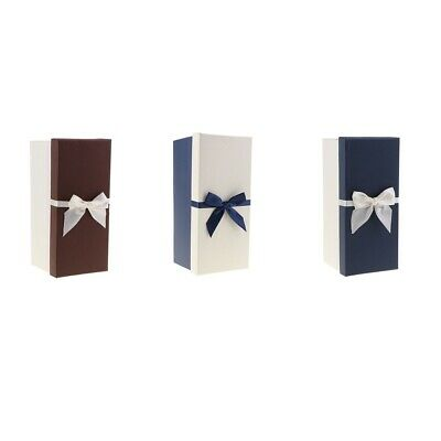 Colorized Gift Box with Lid Bowknot Paper Case Gift Present Package Case