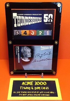 Thunderbirds 50 Years Unstoppable Sylvia Anderson Autograph Card SA2 - Mounted
