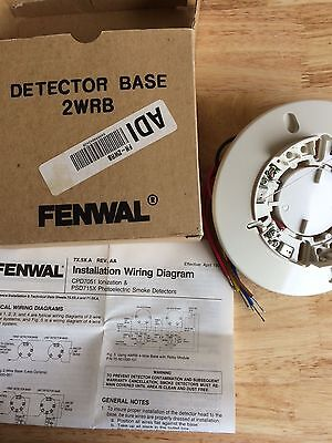 fenwal 2-wire smoke detector base w/ relay