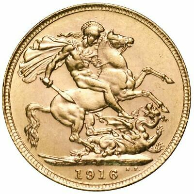 1916 King George V Perth Mint Gold Sovereign