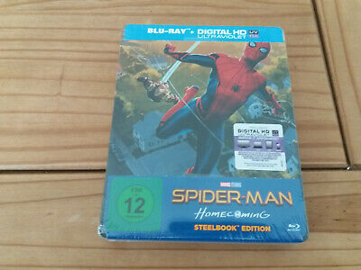 Spider-Man Homecoming Blu-Ray Steelbook EU Import Region Free New and Sealed