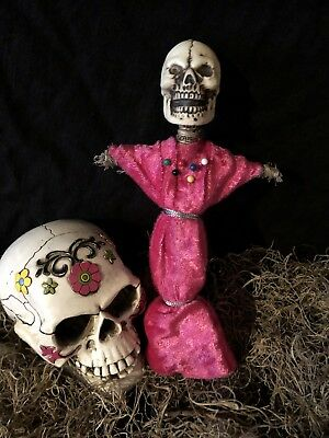 Authentic Voodoo Doll Pink-With Pins
