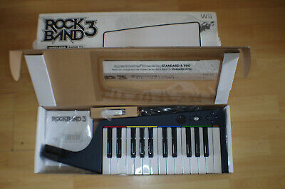 Nintendo Wii Rock Band 3 Wireless Keyboard with Dongle Boxed