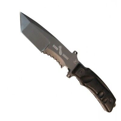 """Bomb Squad Combat Tactical Tanto 10.75"""" Full Tang Fixed Blade Knife With Sheath"""