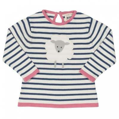 Kite Clothing Organic Cotton Baby Girl Knitted Jumper Applique Sheep Design