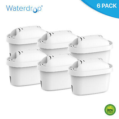 6 x Waterdrop Filter Cartridge Replacement for Brita Maxtra+, Microflow, Mavea
