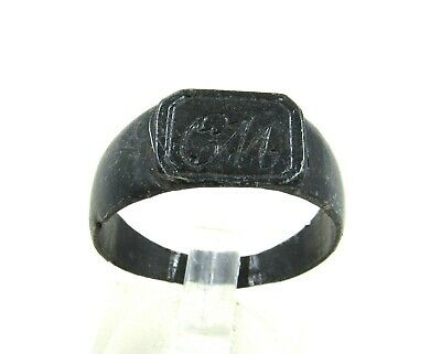Authentic Late / Post Medieval Ring W/ Initials - Wearable - J50