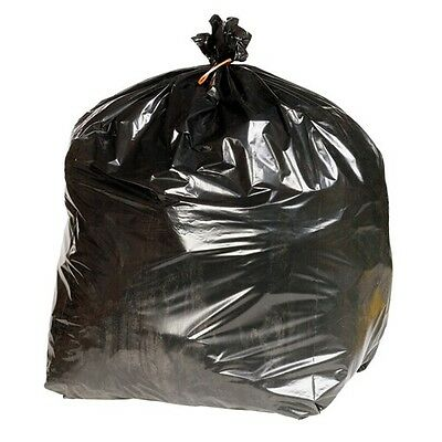 200 Heavy Duty Black Refuse Sacks Strong Thick Rubbish Bags Bin Liners 144G