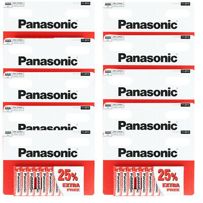 100 x AAA Genuine PANASONIC Zinc Carbon Battery LR03 1.5V MN2400 Longest Expiry
