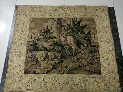 "Antique19c Aubusson Style French Tapestry Size43""x38(cm110x97) Beautiful Wevon"