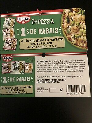 Dr. Oetker Yes It's Pizza Frozen pizza 1$ Off Coupons (15)