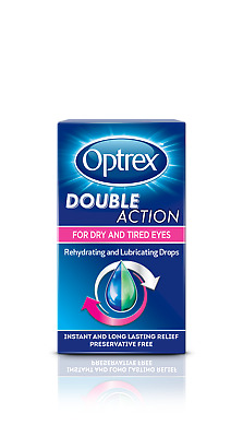 Optrex DOUBLE ACTION Eye Drops for Dry & Tired Eyes 10ml