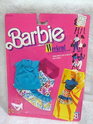 NEW Mattel 1988 ~ Barbie Weekend Collection Fashions #1528 ~ Floral Outfit