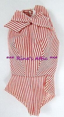 Vintage 1960's BUSY GAL #981 Barbie Doll Red & White Striped Bodysuit