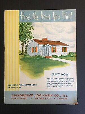 Vintage Architecture Brochures Pre-fabricated Homes 1940s Plans Rare