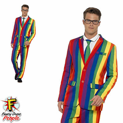 Mens Stand Out Over the Rainbow Suit Stag Do Costume Party Funny Fancy Dress