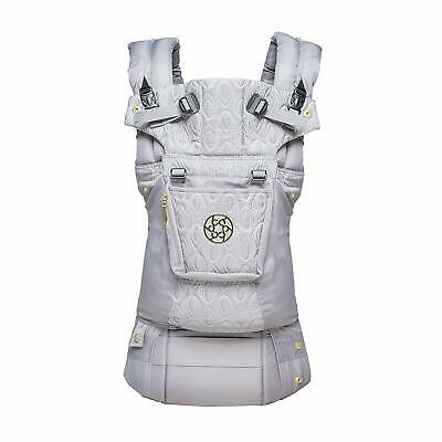 LÍLLÉbaby The Complete Embossed Luxe SIX-Position 360° Ergonomic Carrier Pewter