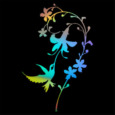 Bird Beautiful Flower Sticker Car Window Door Vinyl Decal Home Room Art Decor