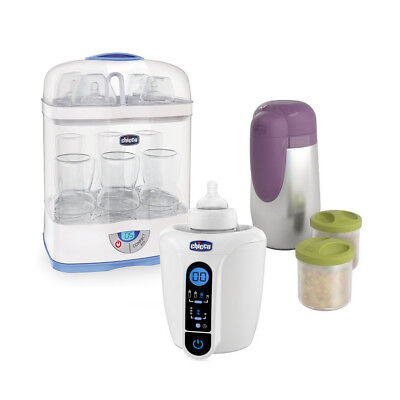 Chicco Esterilizador 3in1 + Biberones Digital + Sostenedor de Botella de Thermos