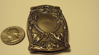 Antique Art Nouveau Sterling Silver Gorham Ornate Floral Match Safe