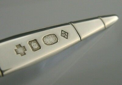 Rare English Solid Silver Dunhill Cigar Letter Opener 2000 Novelty Desk Item