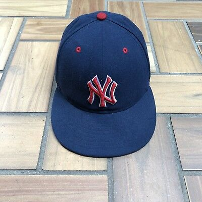 New Era 59Fifty New York Yankees Fitted Hat Cap / Navy Red White Stars / Size 7