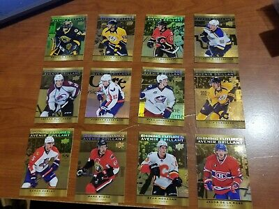 2015-16 UD TIM HORTONS SHINING FUTURES COMPLETE 12 CARD INSERT SET LOT Mackinnon