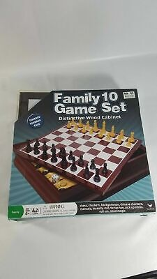 Traditions Family 10 Game Set In A Distinctive Wood Cabinet