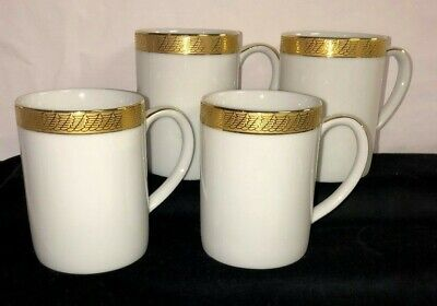 "4 Centurion Collection * PURE GOLD* 4"" COFFEE MUGS* 9414*"