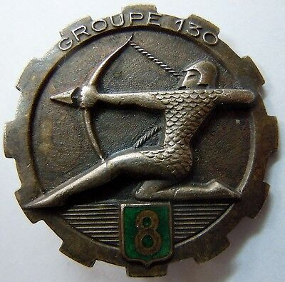 Insigne Train 1939 GTP 130/8 GROUPE DE TRANSPORT DE PERSONNEL WWII ORIGINAL