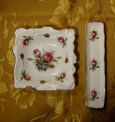 """Hammersley 5"""" Square Sweet Meat & 8 3/8"""" Mint Tray Made In England"""