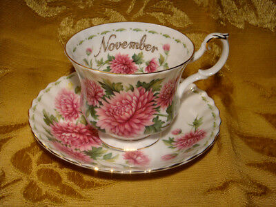 Royal Albert *chrysanthemum* November Cup & Saucer Flower Of The Month Series