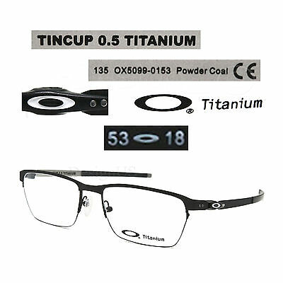 81d14a60722 Oakley TINCUP 0.5 OX5099-0153 Powder Coal Titanium 53 18 135 Eyeglasses Rx