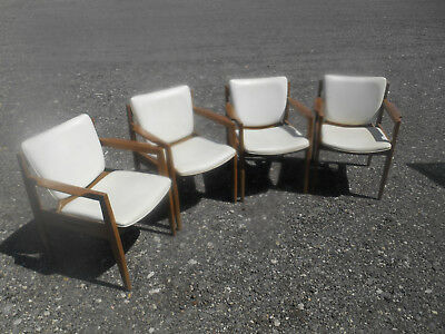 Vintage Thonet Mid-Century Modern 1960's Dining / Side Chairs ( Set of 4 )