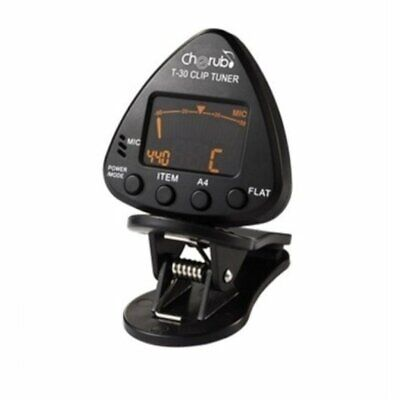 Musedo | Clip-on Tuner for Chromatic, Guitar, Bass (6 string) and Violin, T-30 w