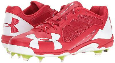 Under Armour Mens Deception Low DT DiamondTip Baseball Cleat Red 1278705 Low Top