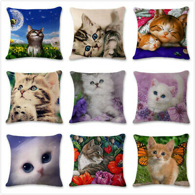 Animal Cat Design Pillow Case Pet Back Cushion Cover Home Decorations Cojines