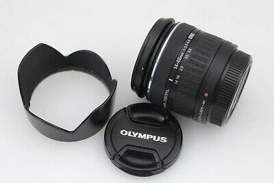 MINT- OLYMPUS ZUIKO 14-42mm f3.5-5.6 DIGITAL ED LENS FOR FOUR THIRDS MOUNT +HOOD