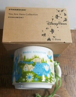 Starbucks Magic Kingdom YOU ARE HERE 2oz. Mug - Demi Tasse- Ornament NEW IN BOX
