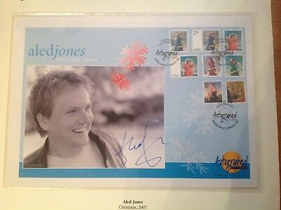 """Westminster """"Autographed Edition"""" Aled Jones Signed Gb First Day Cover"""