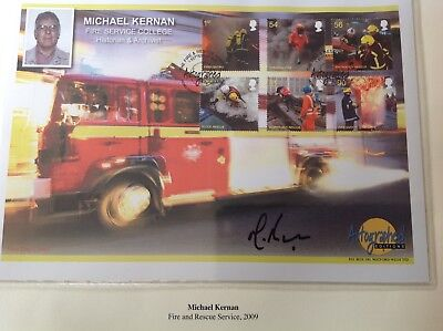 """Westminster """"Autographed Editions"""" Michael Kernan Signed Gb First Day Cover"""