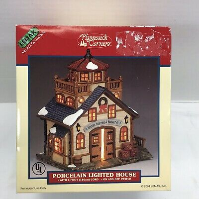 NIB LEMAX Plymouth Corners Seaside Shipping  Lighted MODEL RAILROAD NAUTICAL