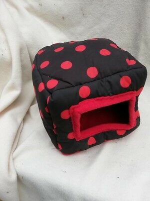 Black with red spots sqube