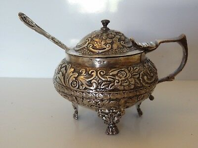 Beautiful Georgian Sterling Silver Mustard Pot