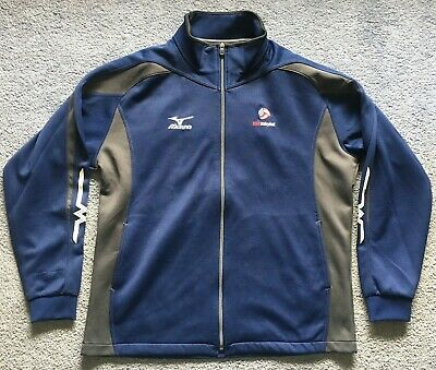 e8dad9bbb5ea Mizuno USA Volleyball Full Zip Warm-Up Track Jacket Made in Japan Size XL