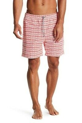 e67cca7695207 Psycho Bunny Men's Bittersweet Red Multi Bunny Print Swim Trunks Sz. XL  147383