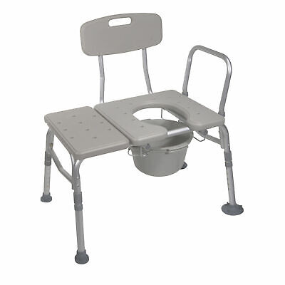 Handicap Combination Transfer Bench Commode Bathroom Toilet Safety Support Aid